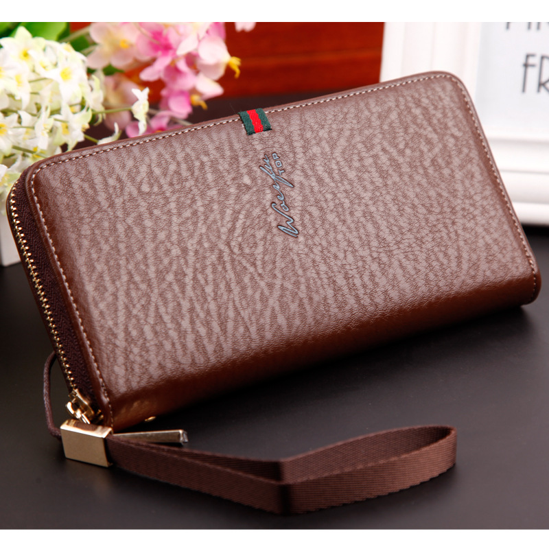 High capacity leather men wallet men wallet small brand mens credit card multi-function business card