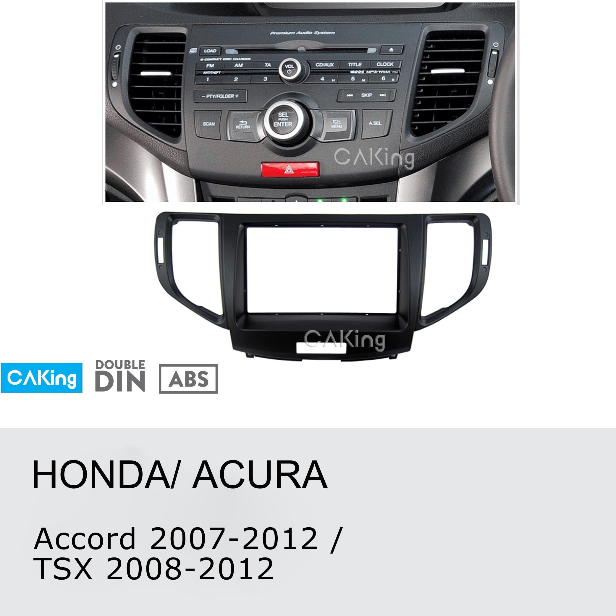 Double Din Car Fascia Radio Panel for Honda Accord 2008 2015 ACURA TSX 2008 2012 Dash
