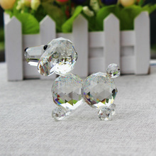 XINTOU Crystal Glass Animals Dog Miniature Figurine fashion gift Home Decorative Figurines Christmas Birthday Memorial Crafts
