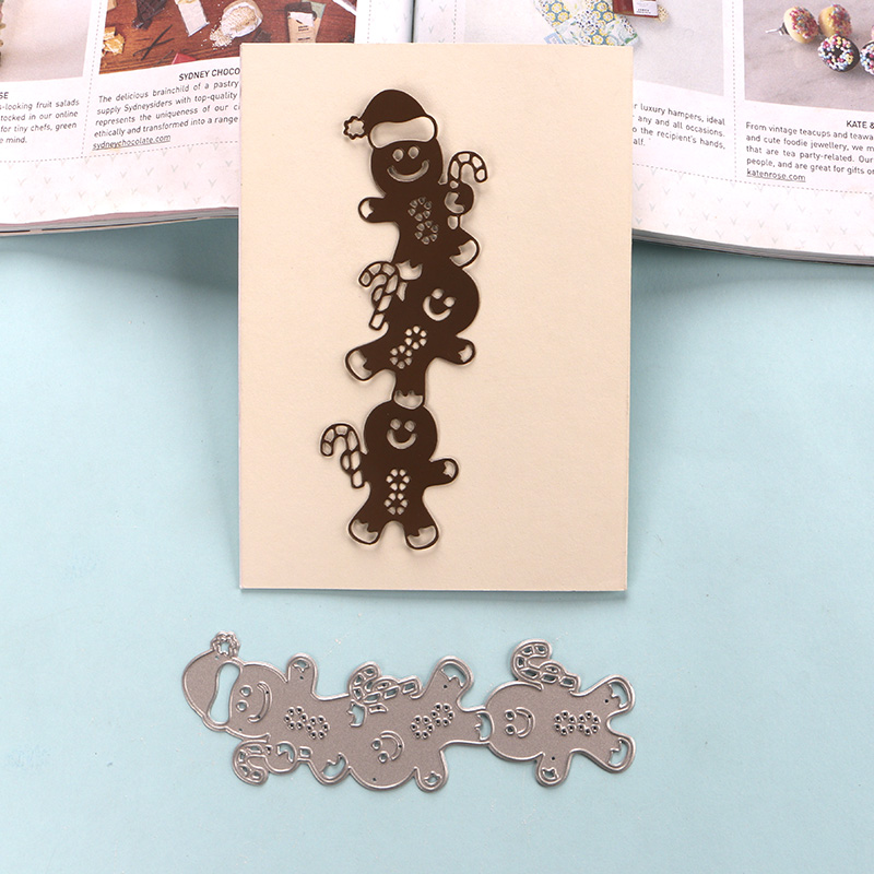 Gingerbread man paper chain craft   Construction paper crafts ...   800x800