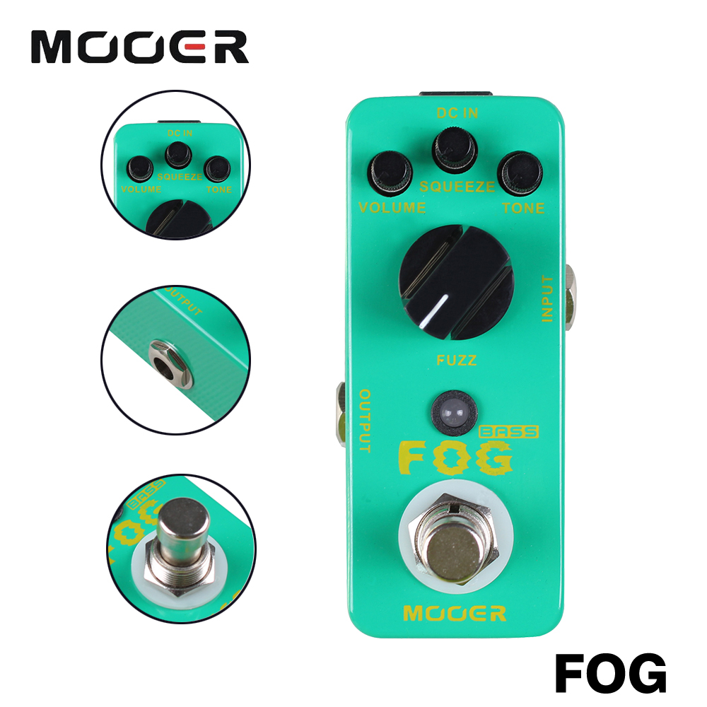 Mooer Full Metal Shell True Bypass Classic Bass Fuzz Tone Effects Mini Fog Electric Bass Effect Pedal mooer full metal shell effects 5 band eq bass equalizer effect pedal micro graphic b true bypass