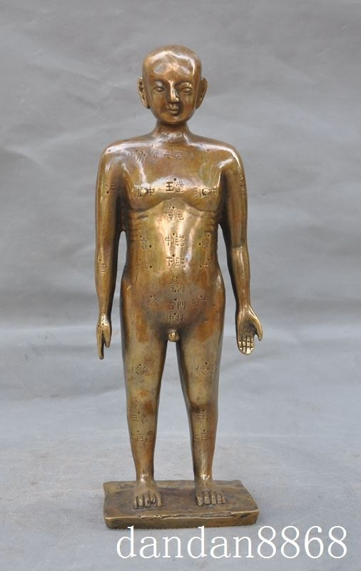 Crafts statue Chinese Medicine bronze Acupuncture and moxibustion Acupoint people man statue halloweenCrafts statue Chinese Medicine bronze Acupuncture and moxibustion Acupoint people man statue halloween