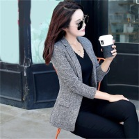 Autumn New Women Slim Fit Coat Fashion Casual Jacket One Button Small Suit Ladies Blazers Work
