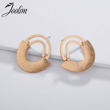 Joolim Jewelry Wholesale/Simple Matte Gold & Silver Hoop Earring