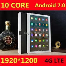 Hot New Tablets Android 7.0 10 Core 64GB ROM Dual Camera and Dual SIM Tablet PC Support OTG WIFI GPS 3G 4G LTE bluetooth phone