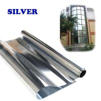 Silver Mirror Tint 2ply Home Window Film 0 8x 3m For Home Building Window