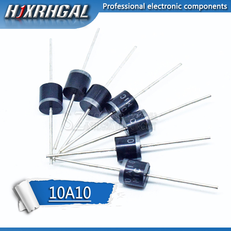 10PCS Electrical Axial Rectifier Diode 10A10 R-6 DIP 10A 1000V 10a10 Hjxrhgal