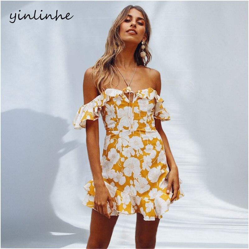 Aliexpress.com : Buy Yinlinhe Yellow Off Shoulder Summer