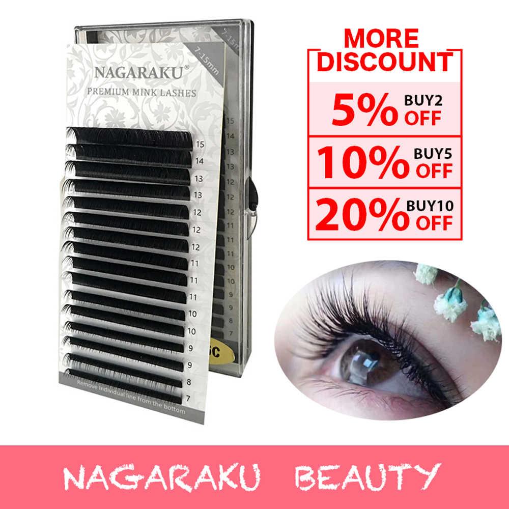 784d21c982f NAGARAKU 16rows/case 7-15mm Mix Matter lash premium natural synthetic mink  eyelash Faux