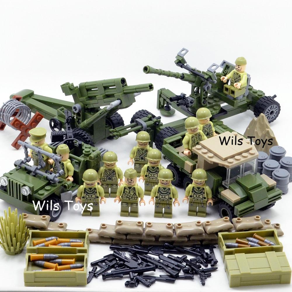 4 in 1 US Army Military World War 2 SWAT Soldier Navy Seals Team Weapon Gun Building Blocks Bricks Figures Boy Toy Gift Children