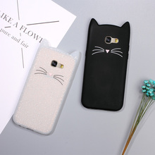 3D bearded cat-inspired cases for Samsung Galaxy A5 A3 (2017/2016)