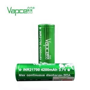 Image 3 - Frete grátis 2pcs Vapcell 21700 bateria 4200mah 30A molicel P42A bateria bateria recarregável para o Cigarro Eletrônico