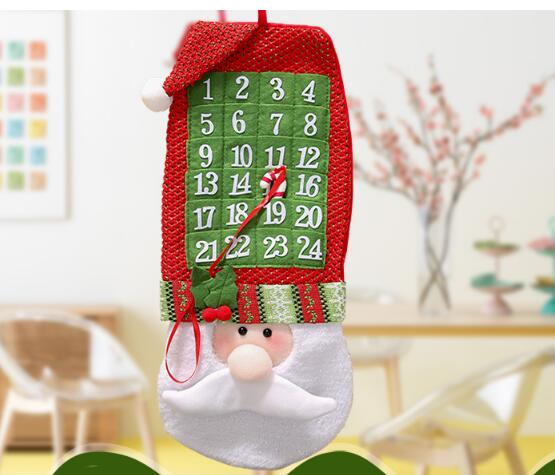 1pcs 2017 new funny cartoon santa claus christmas tree ornaments xmas festival gifts christmas calendar banner - Funny Christmas Tree Ornaments