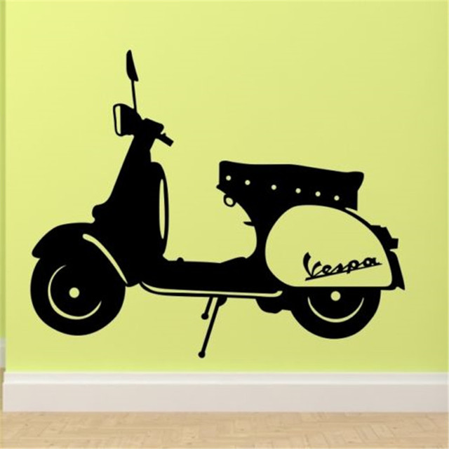 Wall Stickers Bedroom Lounge Mod Motorbike Sticker Art Vinyl Movable ...