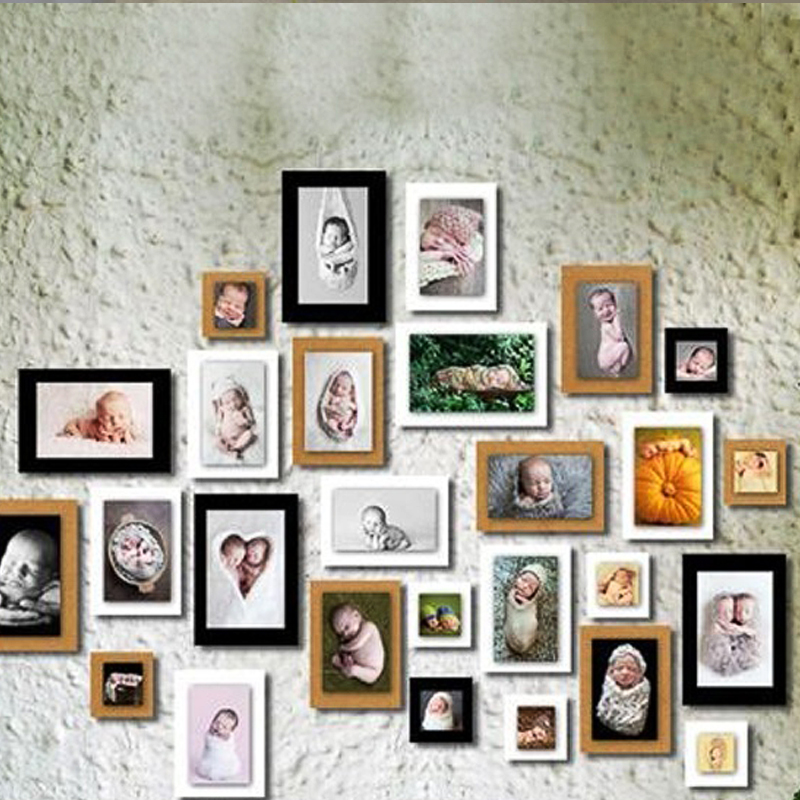 2016 wholesale 7inch 7pcs paper photo flim diy wall picture hanging frame albumrope