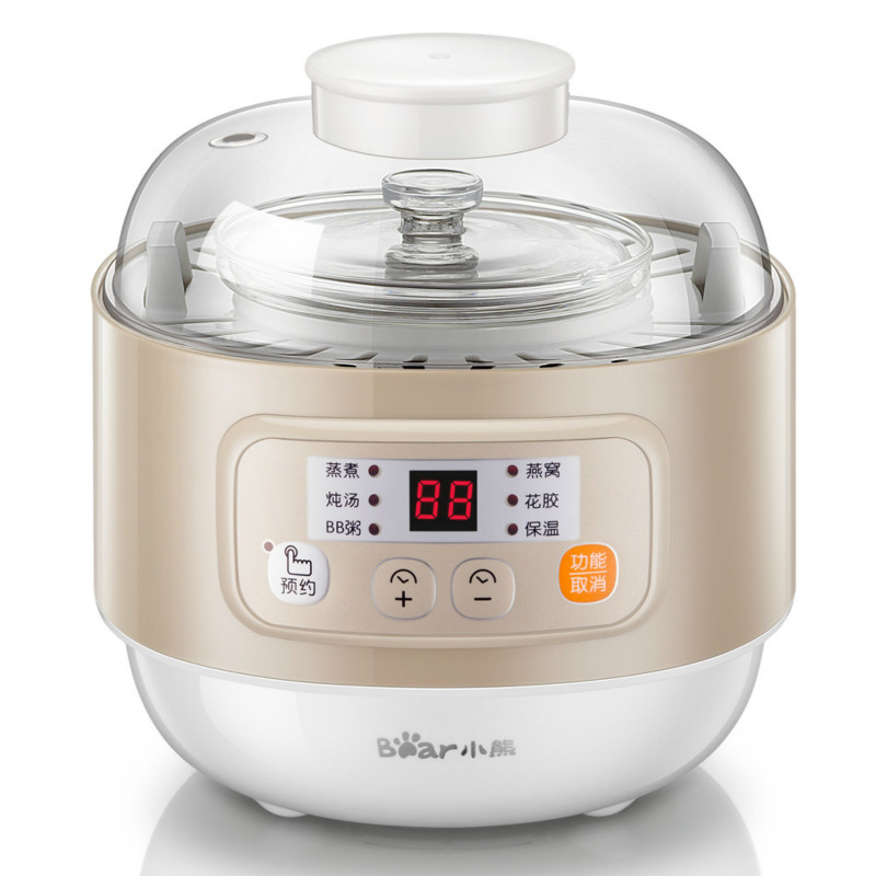 Bear 220V Electric Stew Cooker Ceramic Water Bird Nest Porridge Pot with Timing Appointment mini electric pressure cooker intelligent timing pressure cooker reservation rice cooker travel stew pot 2l 110v 220v eu us plug