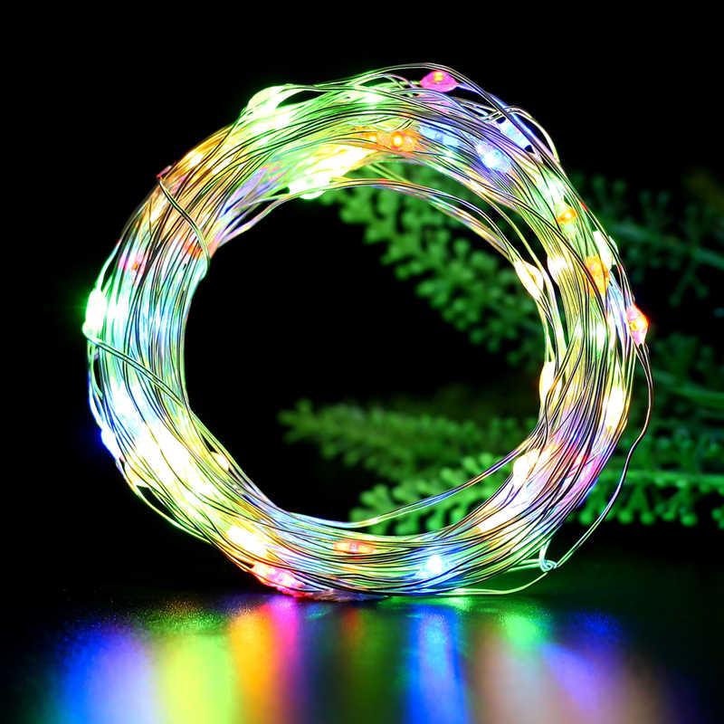 2M Kawat Perak Fairy Garland Botol Stopper untuk Kerajinan Gelas LED String Lampu Pernikahan Natal Liburan Tahun Baru Dekorasi