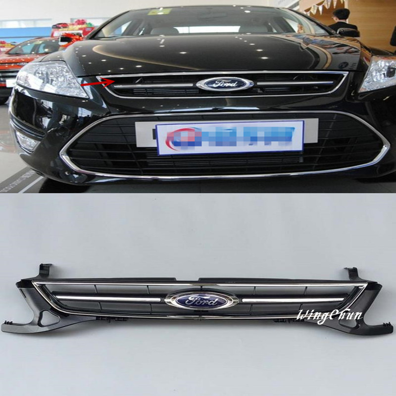 High Quality ABS Front Racing Grills Upper Grill Fit For Ford Mondeo 2011 2012 Accessories 1pcs frp fiber glass nobless style front grill fiberglass racing grille grills accessories fit for honda odyssey rc1 car styling