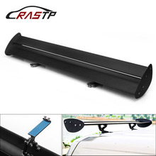 RASTP-43.3 Adjustable Aluminum Need Perforation Car Hatchback Spoiler GT-Style Rear Trunk Wing Tail Racing RS-LTB135