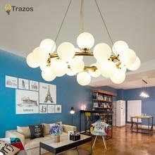 Modern LED Pendant Chandelier Multiple Light G4 Gold /Black White Glass Lamp Fixtures
