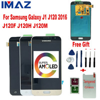 IMAZ SUPER AMOLED LCD For Samsung Galaxy J1 2016 J120 J120F J120M/H LCD Display Touch Screen Digitizer Assembly For J120A LCD