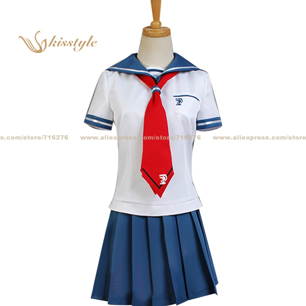 Kisstyle Fashion Dangan Ronpa Danganronpa Another Episode: Ultra Despair Girls Komaru Naegi Uniform COS Clothing Cosplay Costume