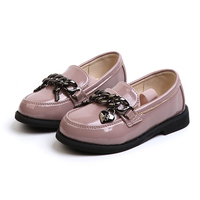 2018 Spring/Autumn Children Fashion Princess Party Shoe Girl Sneakers Wedding Shoes Brand Mary Jane Pink Black Flat Shoes