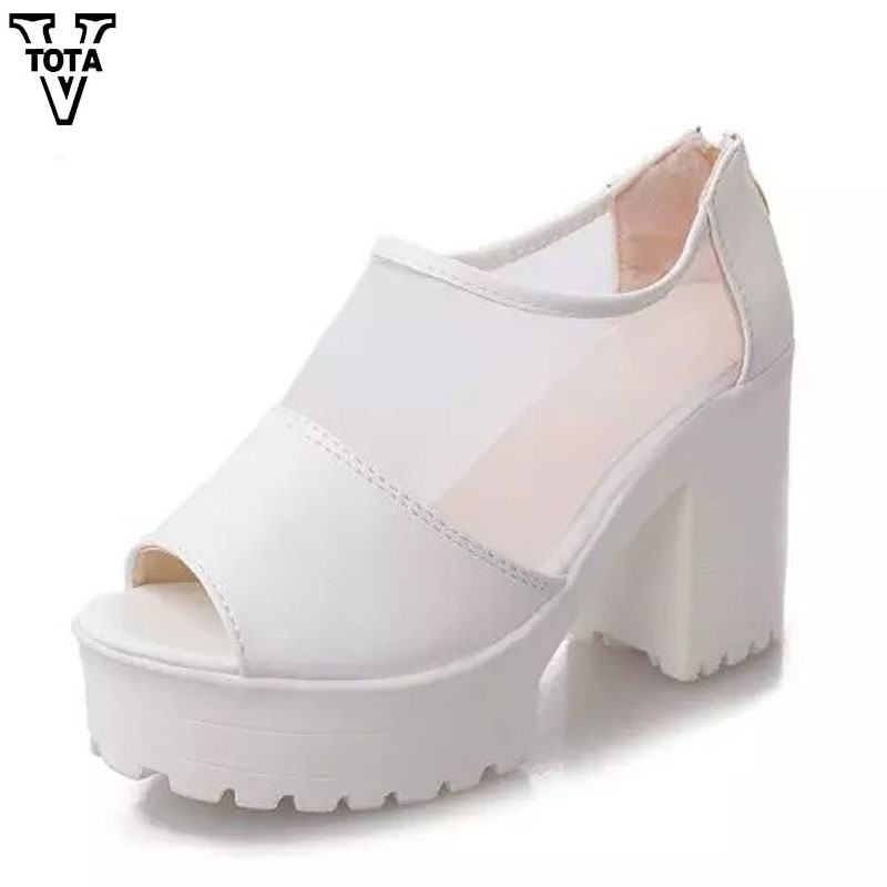 VTOTA Sandals Women Summer Shoes Woman Platform Shoes Spuper High Wedges Women's Shoes Thick Heel Open Toes soft Comfortabl X253 vtota platform sandals summer shoes woman soft leather casual open toe gladiator shoes women shoes women wedges sandals r25