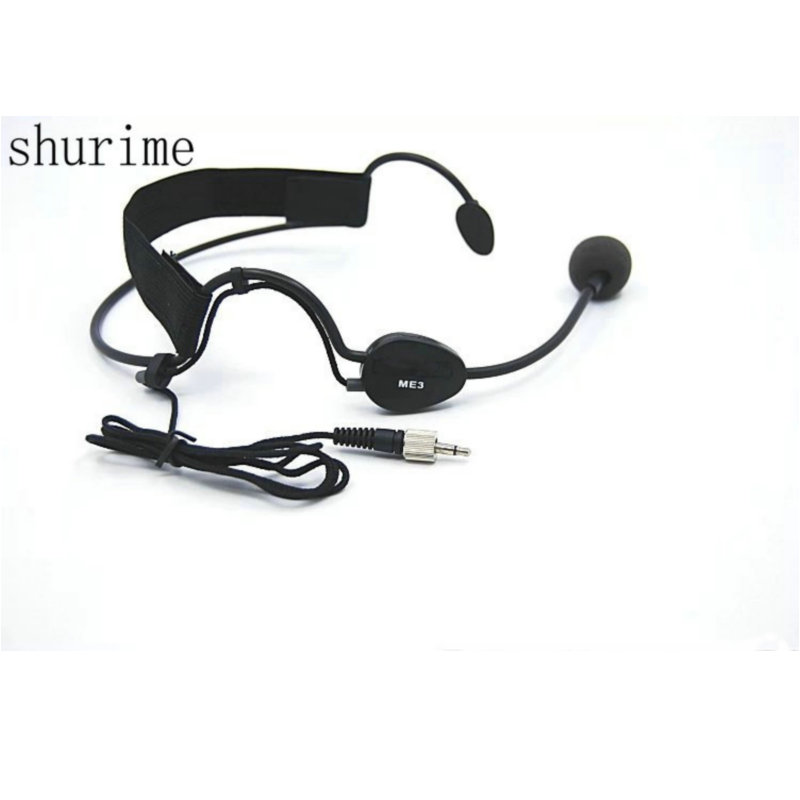 Black Color Headworn Headset ME3 Microphone Condenser  Mic For  Wireless Systems 3.5 mm Screw Lock Plug Головная гарнитура