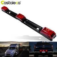 Castaleca NEUE Lkw Trailer hinten brack lichter Rot Räumungs side Marker Lampe Bar 9 LED Für Pickup Lkw RV AUTO 12 v