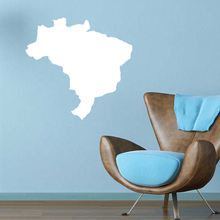 Brazil Brasil map Globe Earth Country wall vinyl sticker custom made home decoration fashion design