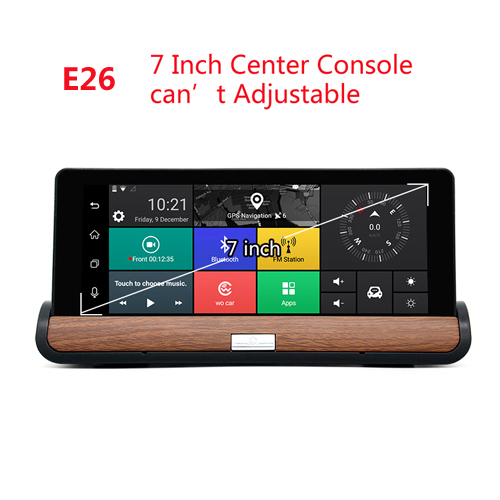 "Junsun 3G Car DVR GPS Camera 6.86""Android dash cam Full HD 1080p Video recorder Wifi Bluetooth registrator Dual lens dvrs Camera 2"
