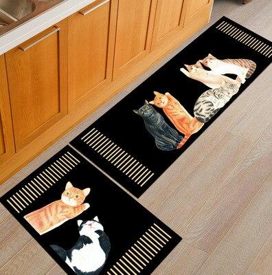 Piano black white keys Floor Mats Cartoon Fish Cats Bathroom Kitchen Carpet House Doormats Living Room Anti Slip Rug Hallway in Mat from Home Garden