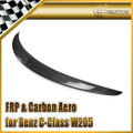 Car-styling For Mercedes-Benz W205 C-Class C200 C250 Coupe A Style Carbon Fiber Rear Spoiler Trunk Wing