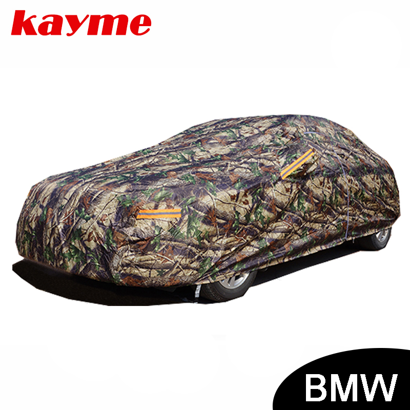 Kayme Camouflage waterproof car covers outdoor cotton sun protection for BMW e46 e60 e39 x5 x6 x3 z4 e90 e36 e34 e30 f10 f30 water pump for bmw e34 e36 e39 e46 e60 e61 e83 e85 z3 z4 11517527799 11517527910