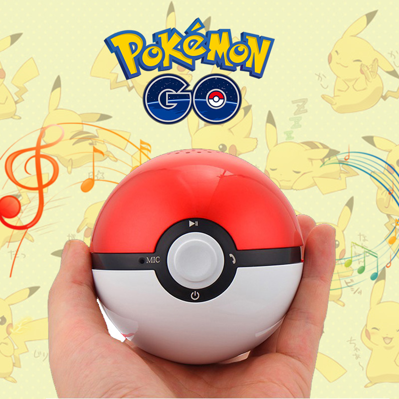YOTEEN Portable Pokemon Go Pokeball Speaker Mini Super Bass Wireless Loudspeaker Bluetooth V4.0 Music Handsfree Audio Speakers-in Portable Speakers from Consumer Electronics    1
