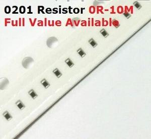 500PCS/lot SMD Chip 0201 Resistor 0R/1R/1.1R/1.2R/1.3R/ 5% Resistance 0/1/1.1/1.2/1.3/Ohm Resistors 1R1 1R2 1R3 k Free Shipping