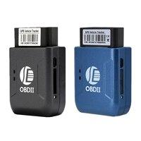 Mini obd2 gps tracker gprs rastreador em tempo real sistema de rastreamento do carro com geofence proteger vibração telefone sms alarme alerta tk206