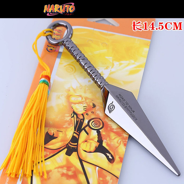 5 Styles Naruto Kunai Metal Toy Ninja Knife Cosplay Weapon