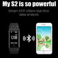 S2 health monitoring Bluetooth bracelet sports step information reminds waterproof anti lost smart bracelet