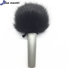 Windproof artificial fur microphone cover for diameter 5cm round head handle can produce as inqiury