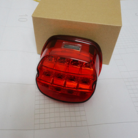Harley Accessories Layback LED Tail Lights Smoked / Red Lens Led License Plate Lamp Tail Light For Harley Dyna Fat Boy Softail