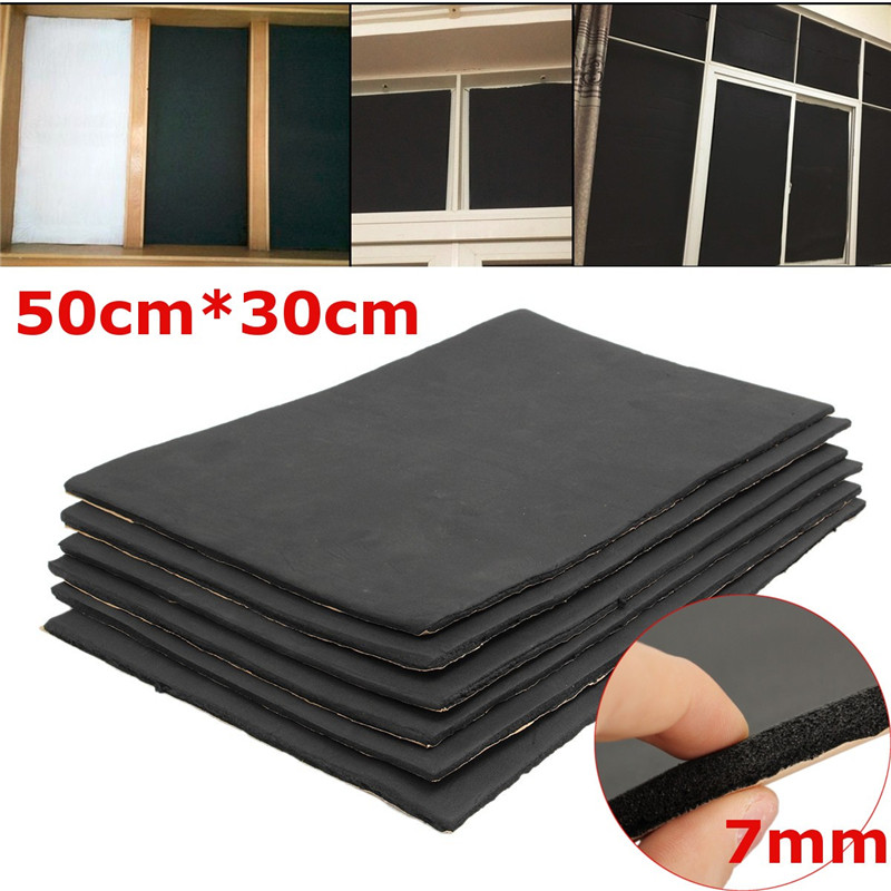 6 Sheets 7mm Car Van Sound Proofing Vehicle Insulation Deadening Closed Cell Foam 30*50cm Auto Interior Exterior Accessories