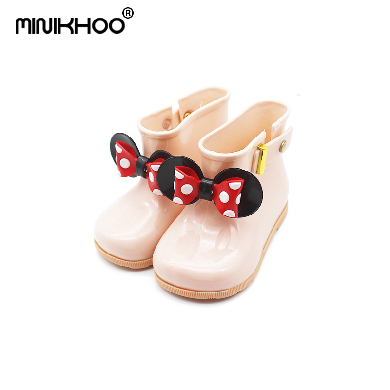 15d4ee7137c Mini Melissa 2018 New Mickey Bow Boots Jelly Sandals Jelly Rain Boots Girl  Jelly Sandals Baby Rain Boots Waterproof Mini Melissa-in Sandals from Mother  ...
