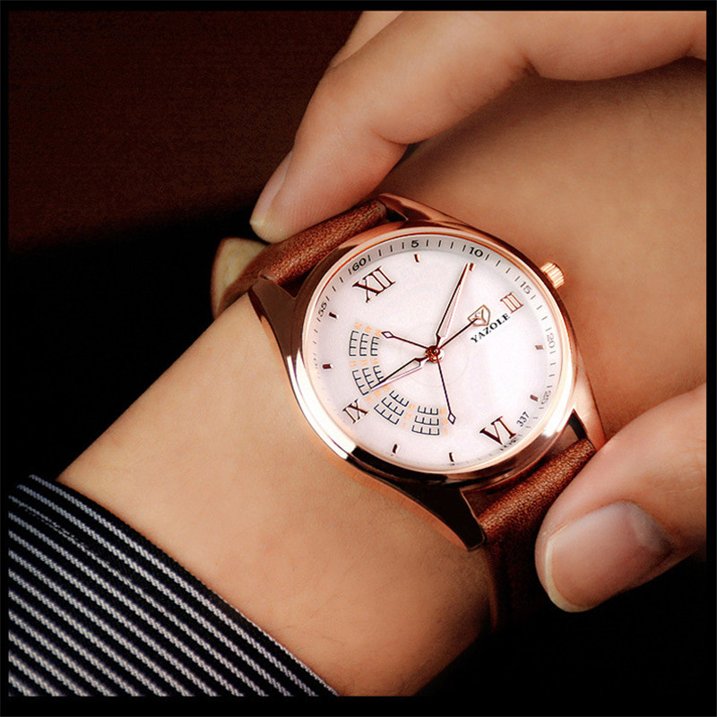 YAZOLE Quartz Watch Men Watches Top Brand Luxury Famous Wristwatch Male Clock Wrist Watch Quartz-Watch Relogio Masculino C43 chenxi wristwatches gold watch men watches top brand luxury famous male clock golden steel wrist quartz watch relogio masculino