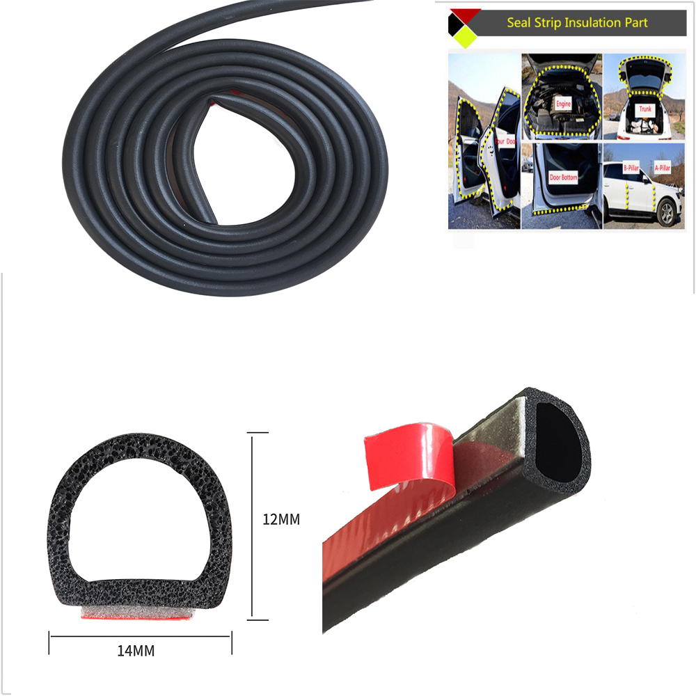 Car Seal Big D(14mm*12mm) Type 3M Car Motor Door Seal Strip Weatherstrip Rubber Seal Sound Insulation Weatherstrip Seals Hollow цена