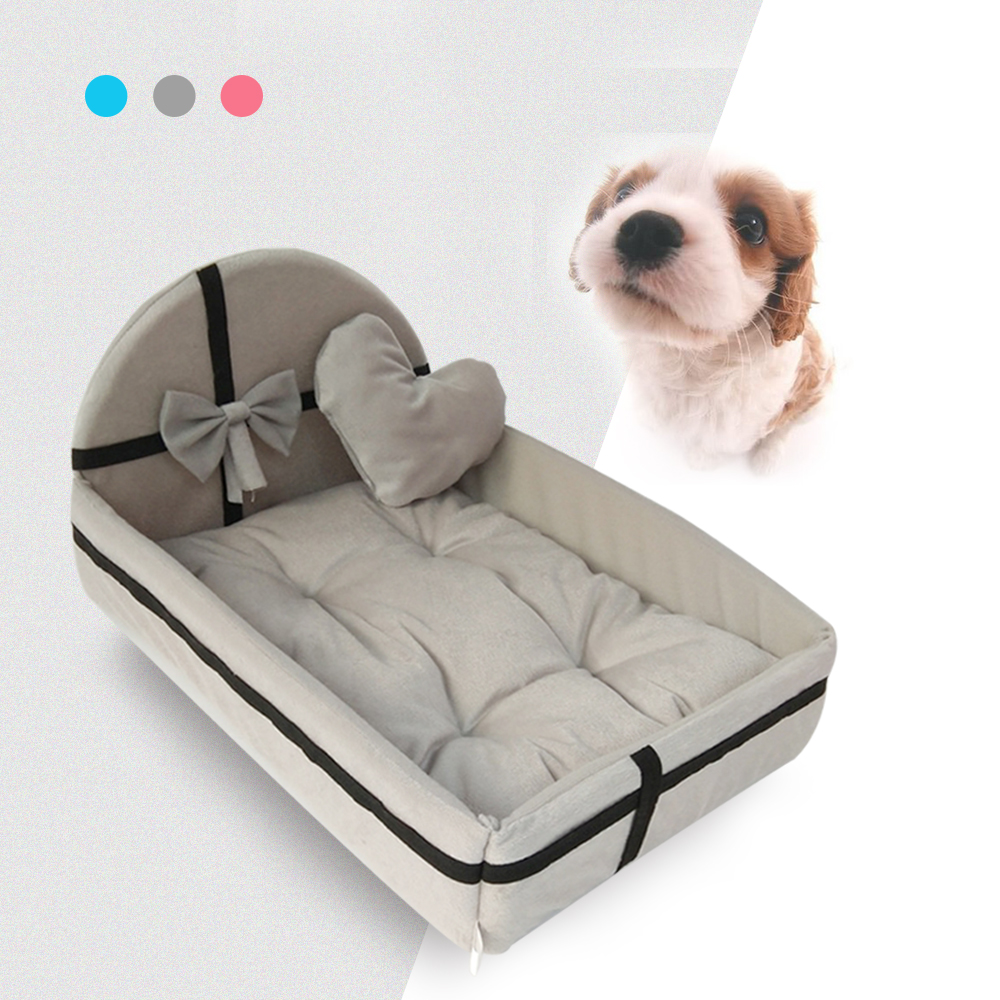 Cute Plush Cushion Pet Dog House Nest With Mat Warm Small Medium Dogs Pet Removable Mattress Cat Bed Dog Puppy Kennel