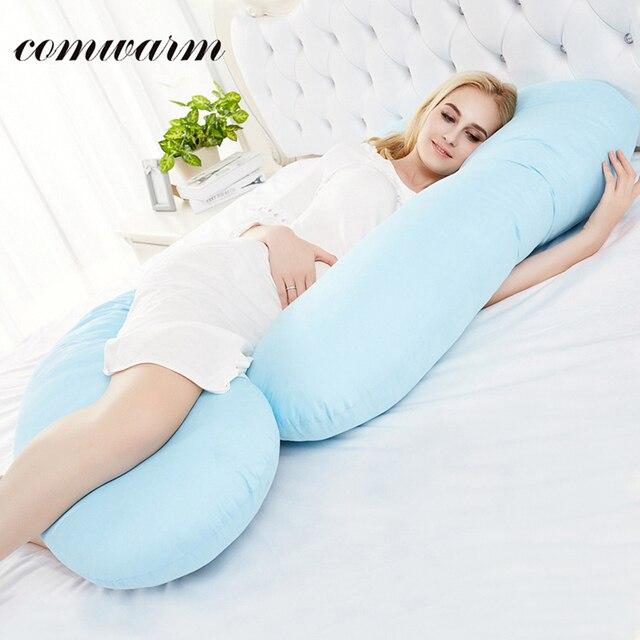 oreiller grossesse Comwarm grossesse confort u corps oreiller solide couleur muti but  oreiller grossesse