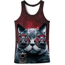 Cloudstyle 2019 Fashion 3D Tank Tops Men Conventional Sleeve