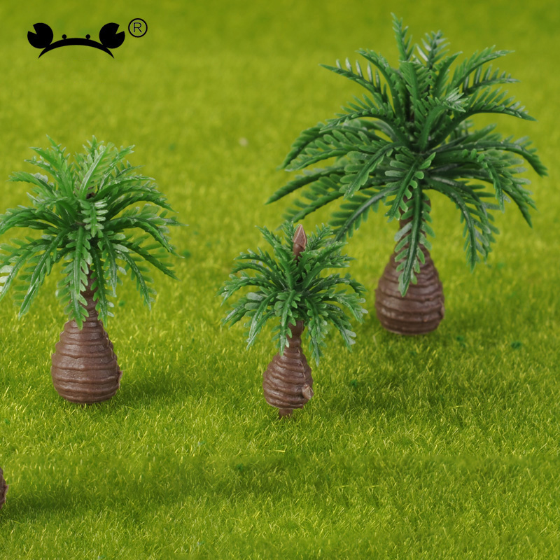 20Pcs Plastic Miniature Model Trees For Building Trains Railroad Layout Scenery Landscape Accessories